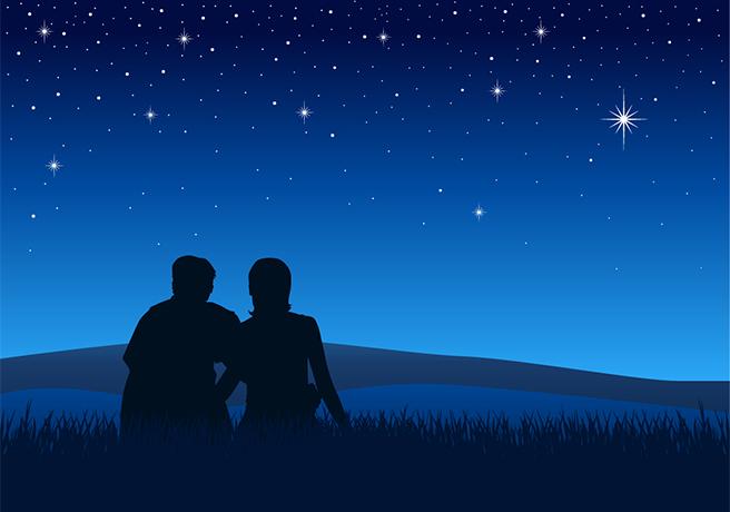 満天の星空が2人を祝福! ロマンチックな星空プロポーズ