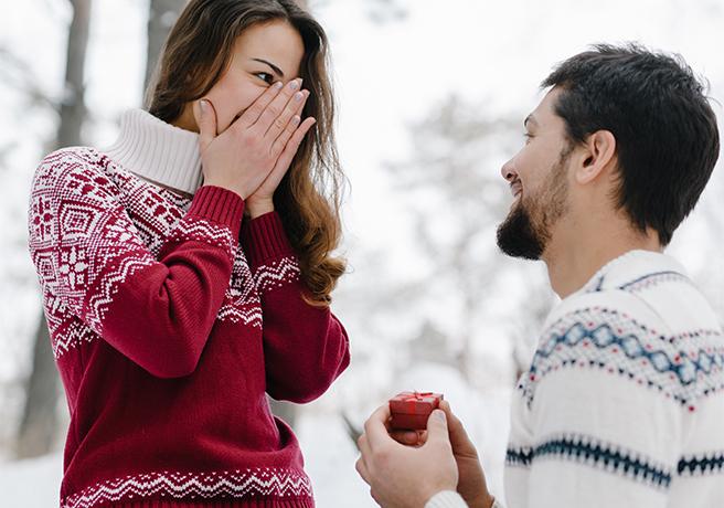雪の中のプロポーズ