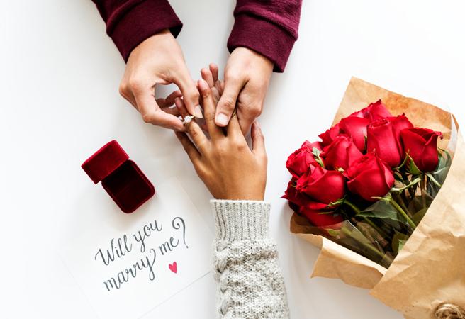 プロポーズの様子